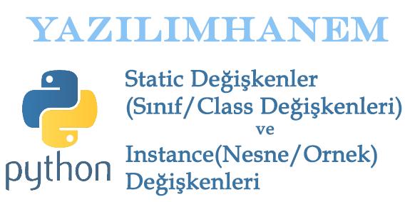 static değişkenler ve instance değişkenler